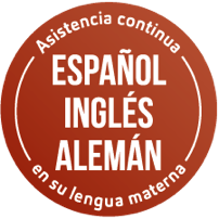 Sello - asistencia en su propio idioma durante todo el traslado